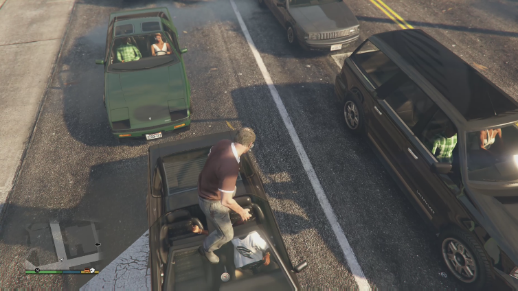 Ghost playing Grand Theft Auto V